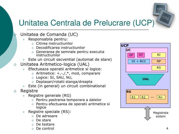 Unitatea Centrala de Prelucrare (UCP)
