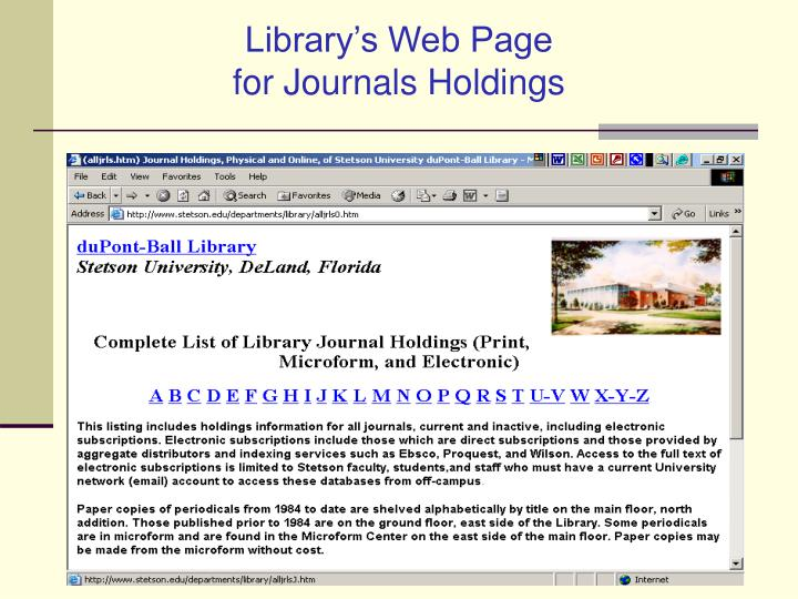Library's Web Page