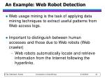 an example web robot detection