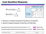 cost sensitive measures