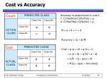 cost vs accuracy
