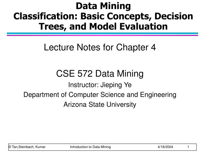 data mining classification basic concepts decision trees and model evaluation n.