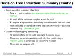 decision tree induction summary cont d1