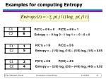 examples for computing entropy1