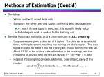 methods of estimation cont d1