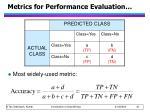 metrics for performance evaluation1