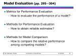 model evaluation pp 295 304