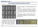 other popular estimation models cont d