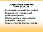 acquisition methods iibmh chapter 20