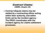 contract claims iibmh chapter 20