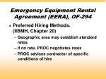 emergency equipment rental agreement eera of 294