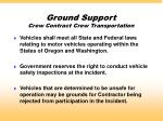 ground support crew contract crew transportation