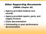 other supporting documents iibmh chapter 20