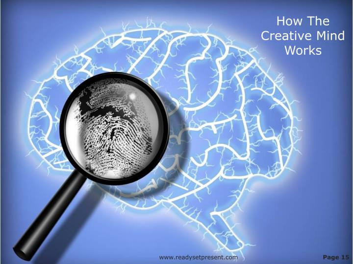 How The Creative Mind Works