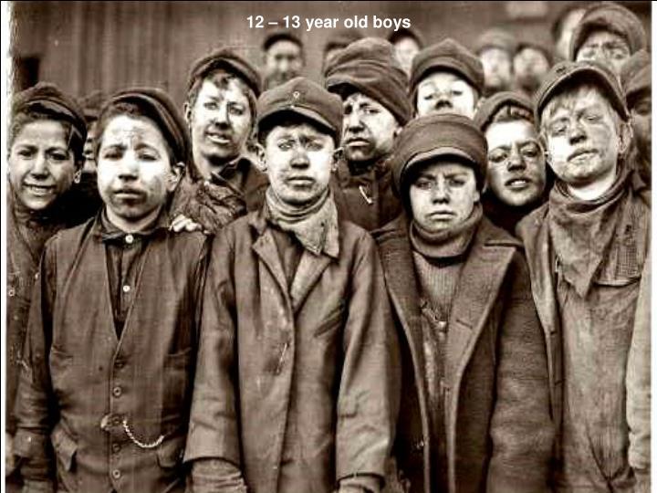 12 – 13 year old boys
