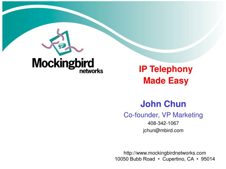 ip telephony made easy n.
