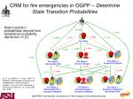 crm for fire emergencies in ogpp determine state transition probabilities