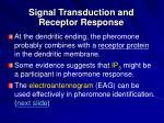 signal transduction and receptor response