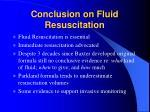 conclusion on fluid resuscitation