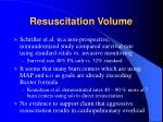resuscitation volume2
