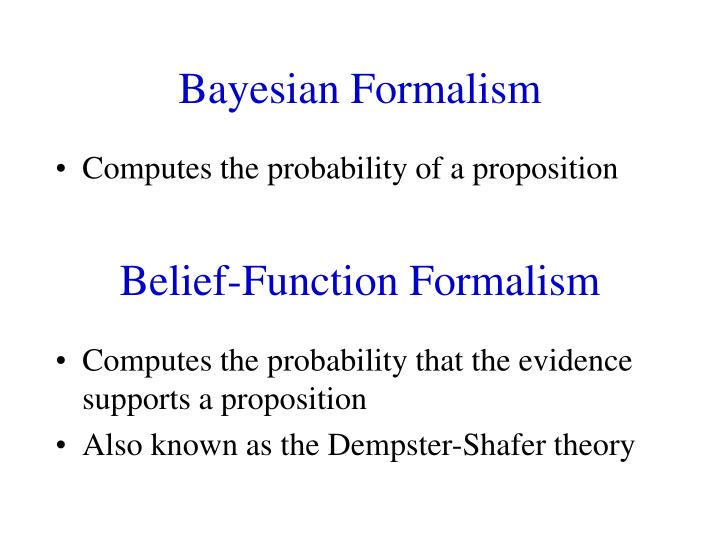 belief function formalism n.