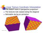 linear texture coordinate interpolation