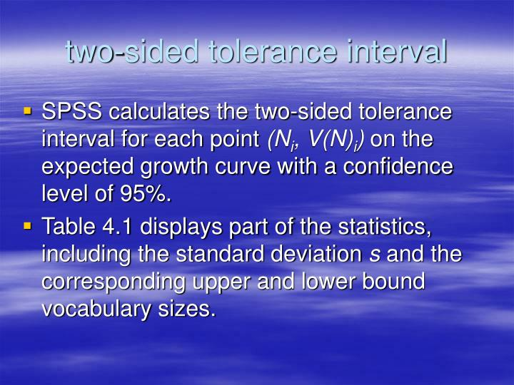 two-sided tolerance interval