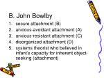b john bowlby