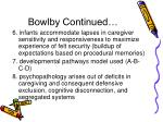bowlby continued