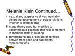 melanie klein continued