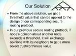 our solution4