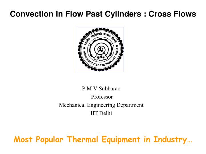convection in flow past cylinders cross flows n.