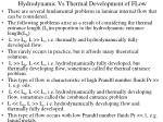 hydrodynamic vs thermal development of flow