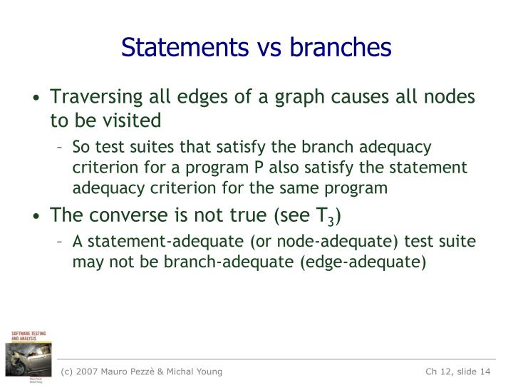 Statements vs branches