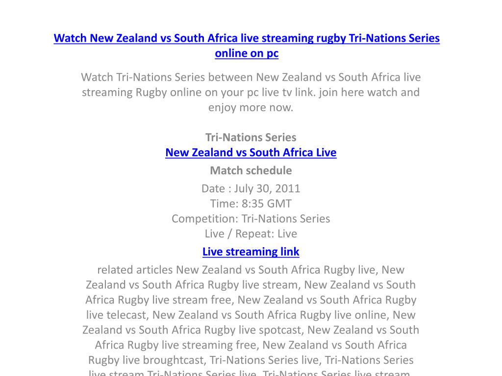watch new zealand vs south africa live streaming rugby tri nations series online on pc l.