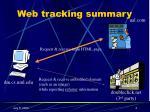 web tracking summary