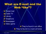 what are e mail and the web like