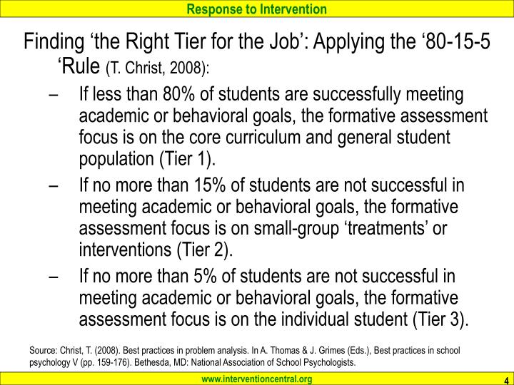Finding 'the Right Tier for the Job': Applying the '80-15-5 'Rule