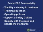 school fbo responsibility