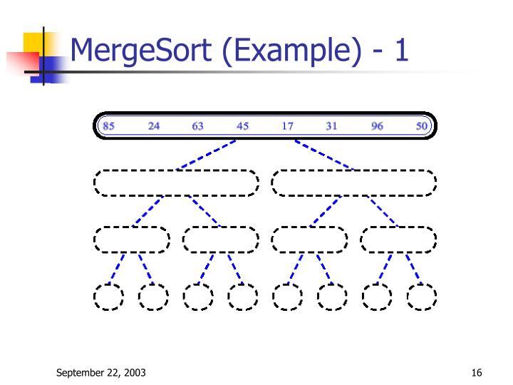MergeSort (Example) - 1