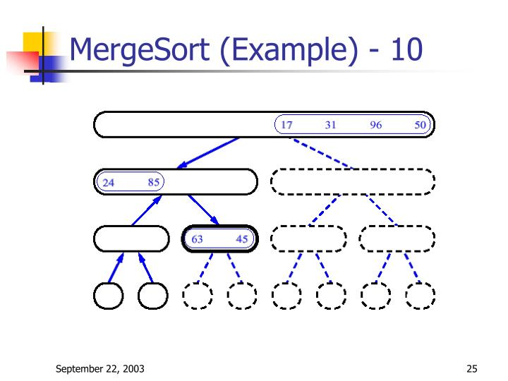 MergeSort (Example) - 10