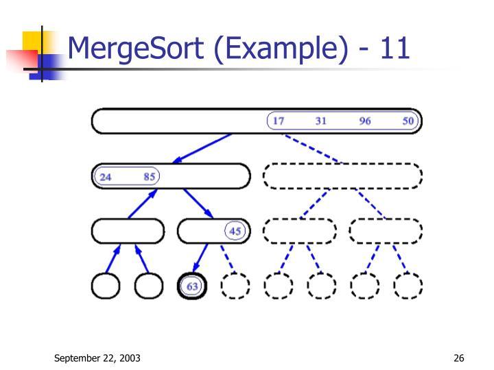 MergeSort (Example) - 11