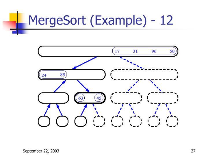 MergeSort (Example) - 12