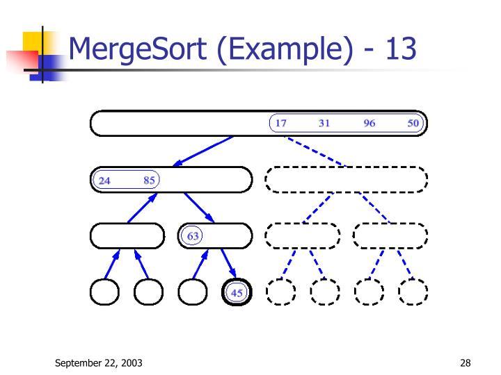 MergeSort (Example) - 13