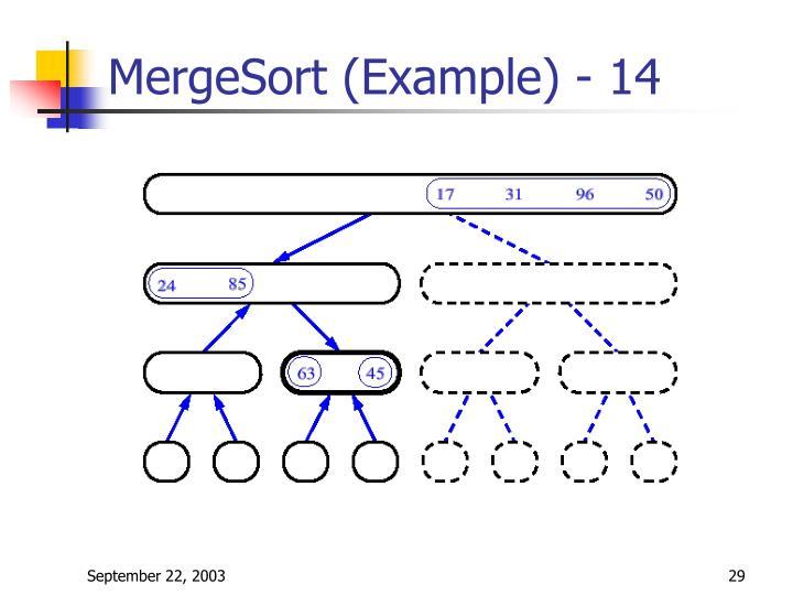 MergeSort (Example) - 14