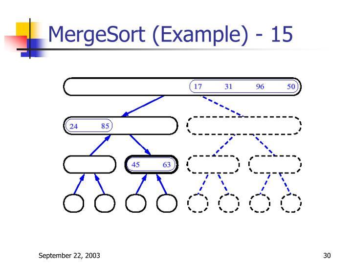 MergeSort (Example) - 15