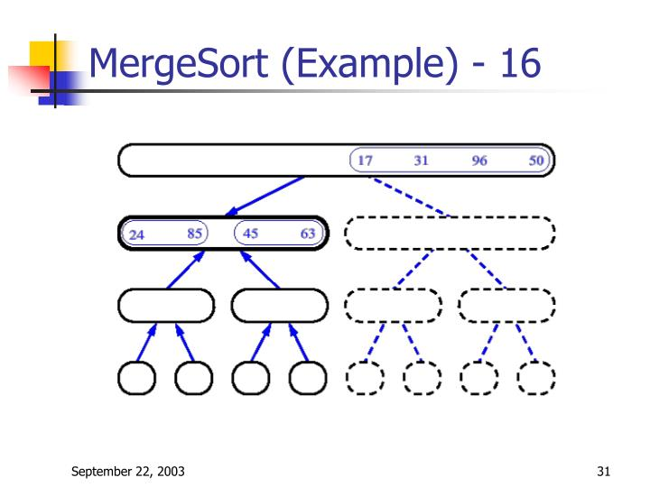 MergeSort (Example) - 16