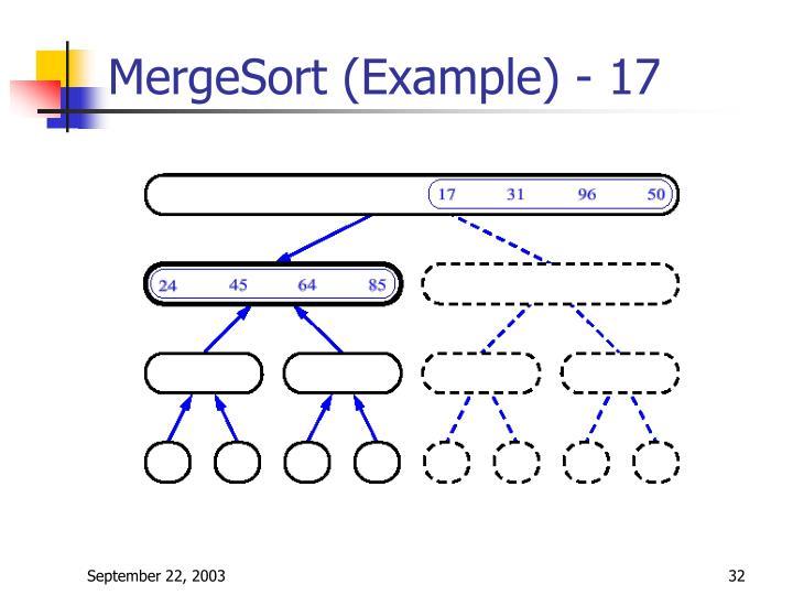 MergeSort (Example) - 17