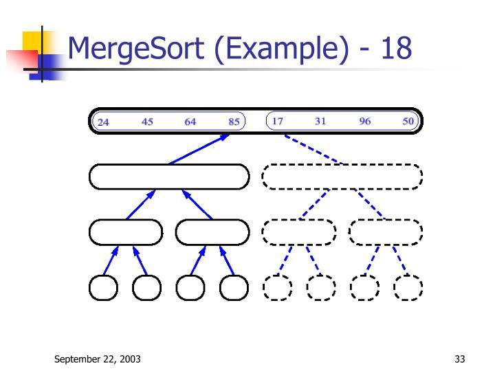 MergeSort (Example) - 18
