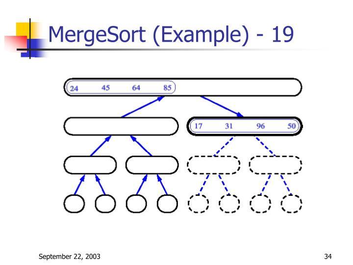 MergeSort (Example) - 19